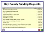 key county funding requests