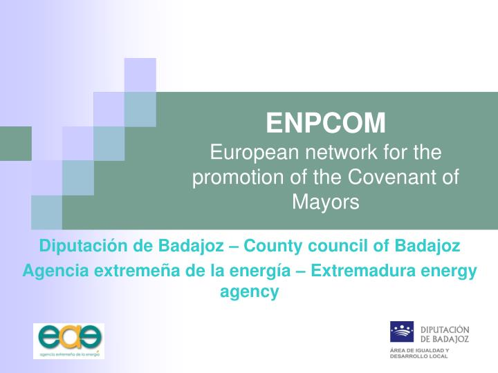 enpcom european network for the promotion of the covenant of mayors n.