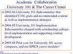 academic collaboration university 101 the career center
