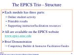the epics trio structure