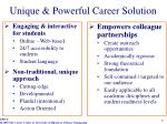 unique powerful career solution