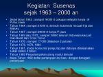 kegiatan susenas sejak 1963 2000 an