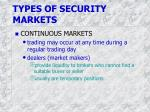 types of security markets1