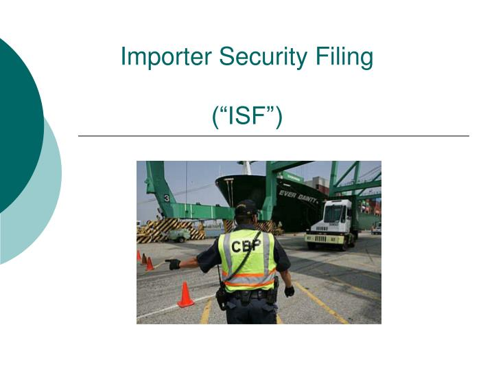 importer security filing isf n.