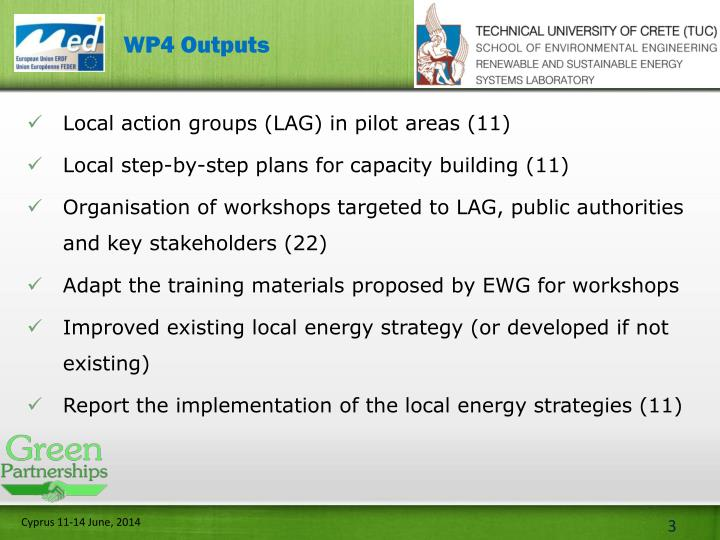 WP4 Outputs