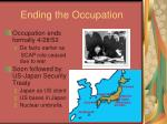 ending the occupation