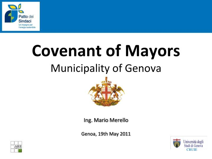 covenant of mayors municipality of genova n.