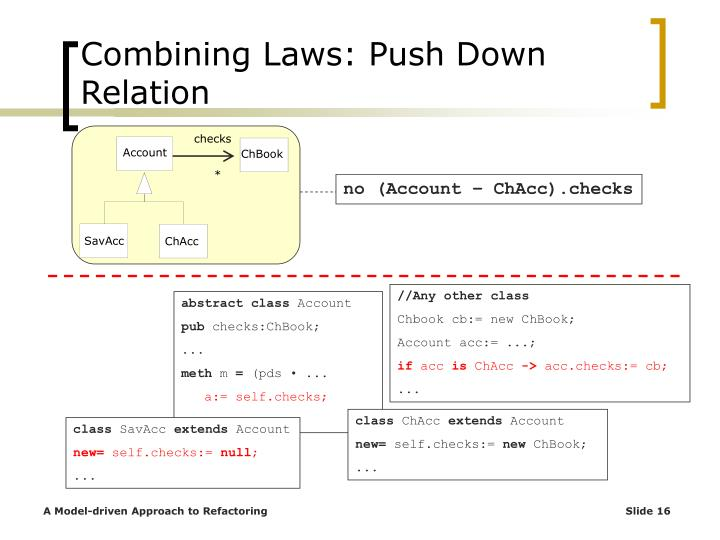 Combining Laws: Push Down Relation