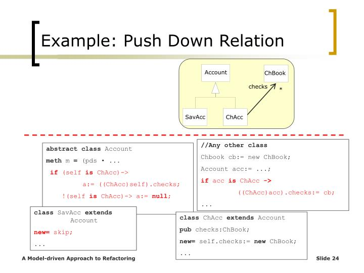 Example: Push Down Relation