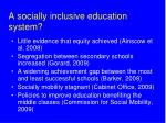 a socially inclusive education system