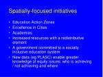 spatially focused initiatives