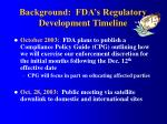 background fda s regulatory development timeline1