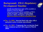 background fda s regulatory development timeline2