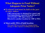 what happens to food without adequate prior notice1