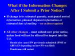 what if the information changes after i submit a prior notice