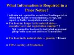 what information is required in a prior notice2