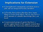 implications for extension1