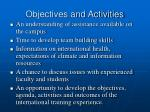 objectives and activities1
