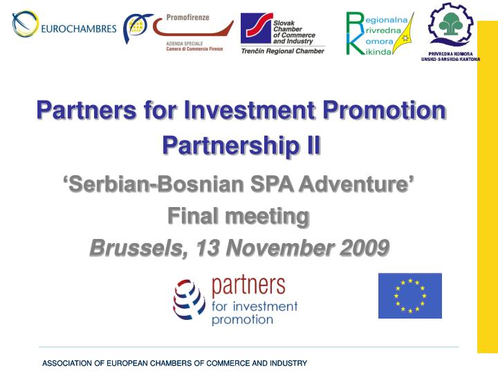 partners for investment promotion partnership ii n.