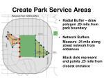 create park service areas