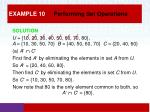 example 10 performing set operations1