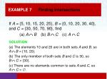example 7 finding intersections