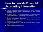 how to provide financial accounting information