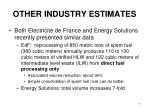 other industry estimates