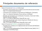 principales documentos de referencia