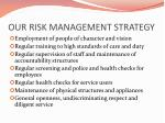 our risk management strategy