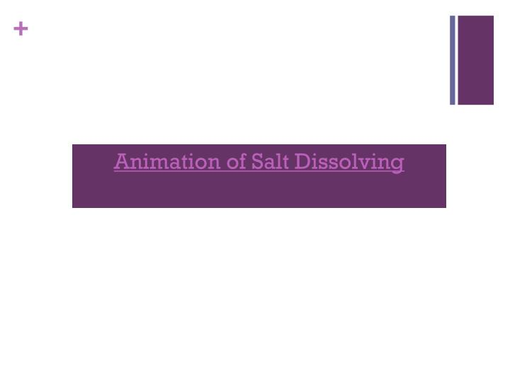 Animation of Salt Dissolving