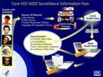 core hiv aids surveillance information flow