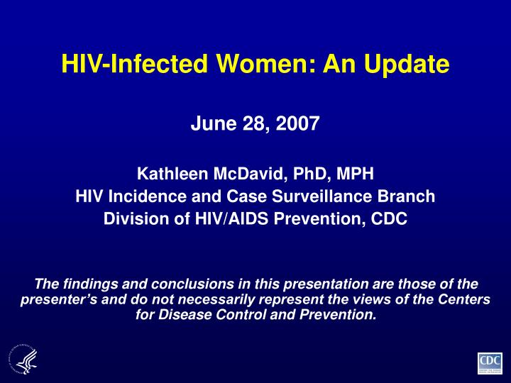 hiv infected women an update n.