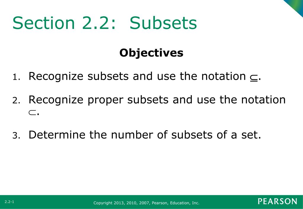 Ppt Section 22 Subsets Powerpoint Presentation Id3913069