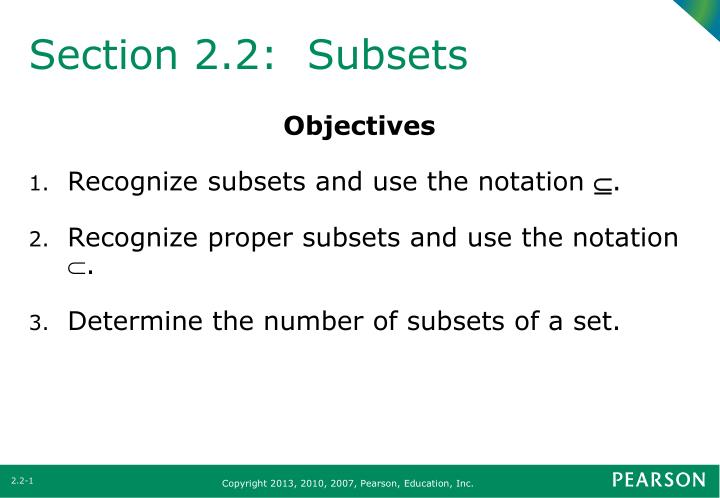 section 2 2 subsets n.