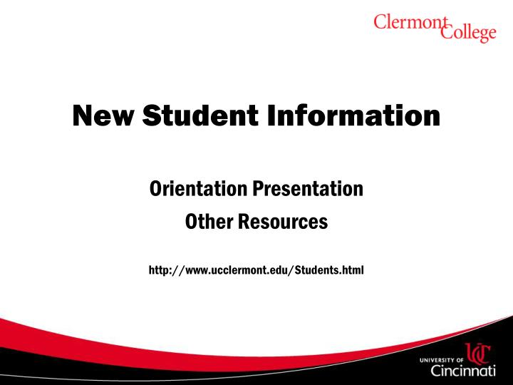 Uc Clermont Campus Map.Ppt Welcome To Uc Clermont Powerpoint Presentation Id 3913075