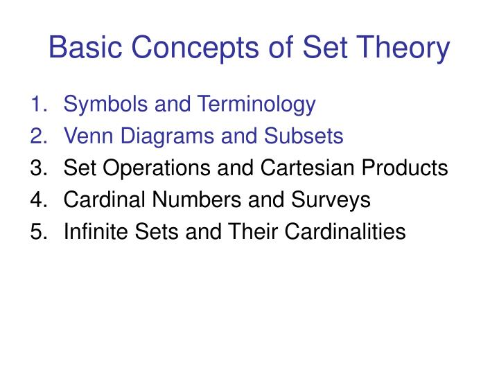 PPT Survey Of Mathematical Ideas Math 100 Chapter 2 PowerPoint