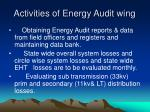 activities of energy audit wing
