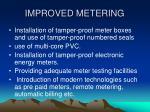 improved metering