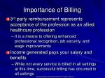 importance of billing