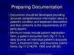 preparing documentation