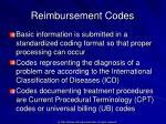 reimbursement codes