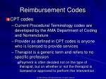 reimbursement codes5