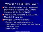 what is a third party payer