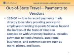 out of state travel payments to vendors