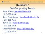 questions self supporting funds