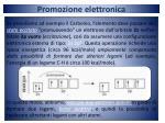 promozione elettronica