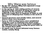 why wang was famous