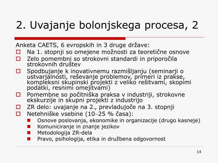 2. Uvajanje bolonjskega procesa, 2