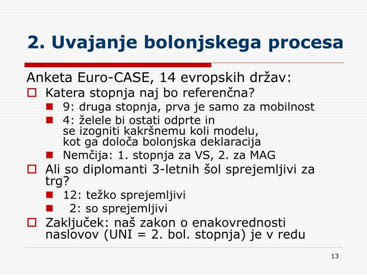 2. Uvajanje bolonjskega procesa